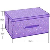 WTL かご?バスケット 収納ボックス大型仕上げボックスデスクトップ収納ボックスカバー下着収納ボックス不織布衣類服 (色 : Purple heart, サイズ さいず : S s)