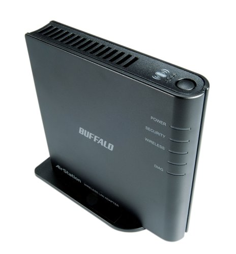 BUFFALO LAN端子用無線子機 メディアコンバータ WLI-TX4-G