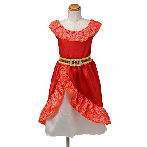 ディズニー アバローのプリンセス エレナ おしゃれドレス キッズコスチューム 女の子 100cm-110cm