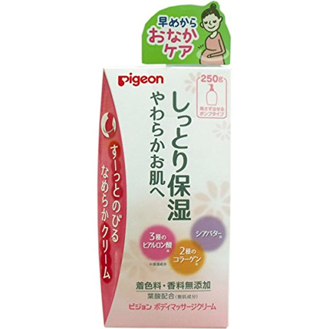 文言白菜見通しピジョン ボディマッサージクリーム 250g【4個セット】