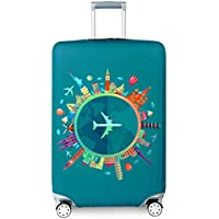 Travel Suitcase Protector Zipper Suitcase Cover Washable Print Luggage Cover 18-32 inch