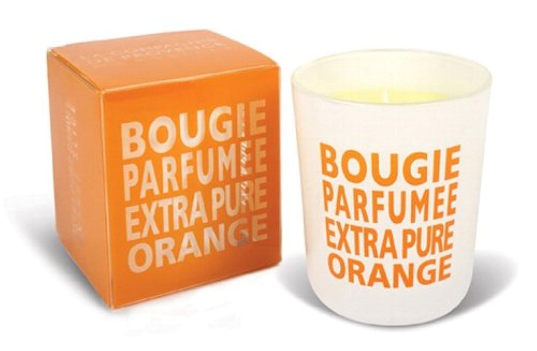 広大な告発者枕Provence グラスキャンドル オレンジ 140g
