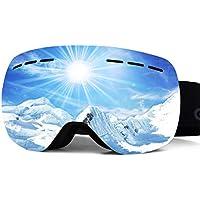Gizaniton スノーゴーグル スキーゴーグル 400UV 曇り防止付き ダブルレンズ 球面レンズ 防風/防雪/防塵 レンズを取外が可能 収納袋付 日本語取扱説明書と保証書付き 12ヶ月保証期間 登山/スキー/バイク/アウトドアスポーツに全面適用