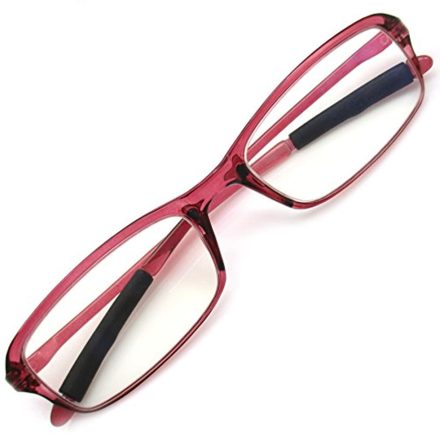 そのような意外真似る老眼鏡 ブルーライトカット PC リーディンググラス パソコン TR90 軽量 超弾性素材 (+2.00 ボルドー)