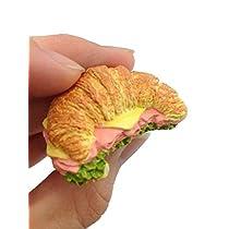 クロワッサンサンドイッチ、食品3d冷蔵庫マグネットお土産Touristギフトfo-005