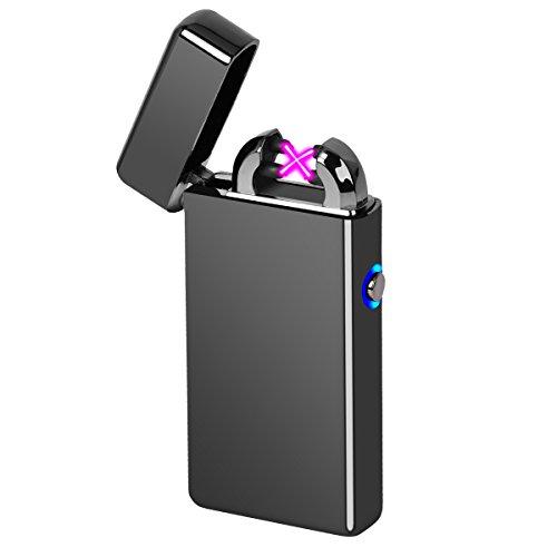 電子ライター USB充電式 アークライター ガス・オイル不要 風防付き 熱線ライター プラズマライター 防災グッズ 防災用品 点火ライター アウトドア用品
