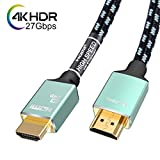 Toptrend 銀メッキ 4K HDMI2.0 ケーブル 27Gbps 1.8m 24k金めっき端子 28AWG銅導体 CL3防火レベル 4K/60Hz 3D UHD HDR ARC イーサネット対応 テレビ、PS4、PS3、Blu-rayプレーヤー、Nintendo Switch、Apple TV、PC等
