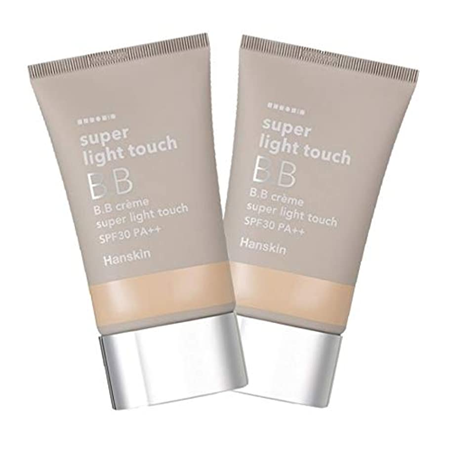ハンスキンスーパーライト?タッチBBクリーム30g x 2本セット、Hanskin Super Light Touch BB Cream 30g x 2ea Set [並行輸入品]