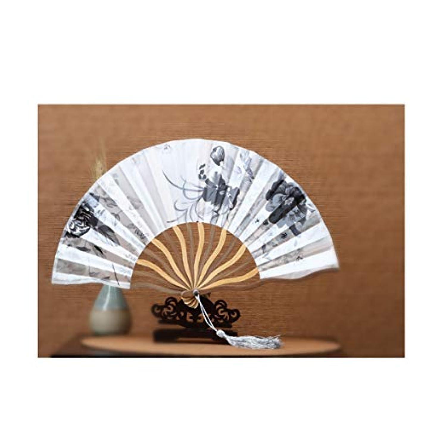 クレデンシャルウィスキーモードQIANZICAI 扇子、クリップカラーの女性の扇風機、女性の扇子、コンパクトサテンの扇子、5-6インチキールのファン、コンパクトとポータブル 滑らかな感触 (Color : D1)