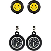 Nurse Fob Watch,Clip on Hanging & Retractable Medical Pocket Watch for Men Women,Pointer Glow in Dark,Infection Control,Health Care Nurse Doctor Brooch Fob Watch,Gift Item