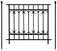 門扉付きの柵が作れるロゼッタシステムフェンス アベニュー 基本セット ブラック SSIPN-7021FSET-BLK