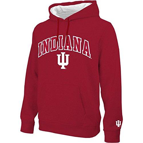 Indiana Hoosiersアーチ型メンズパーカースウェットシャツ–Crimson