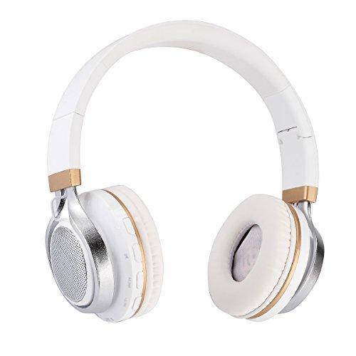 Aita BT816 Bluetooth ワイヤレス ヘッドホン 密閉型 有線無線両用 ステレオ音声 マイク内蔵 ブルートゥース ヘッドセット ホワイト