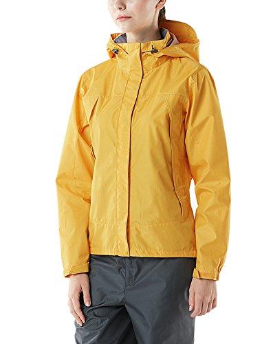 (テスラ)TESLA レディース レインウェア 上下セット 登山 雨具 FES20 レインスーツ レインコート かっぱ 合羽上:イエロー/下:グレー L