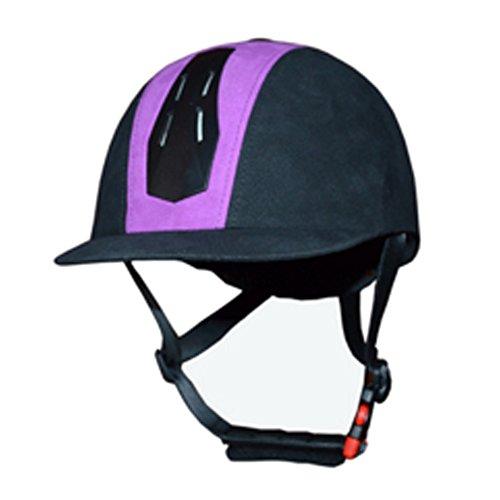 [해외]승마 헬멧 고품질 공기 조절 기수 헬멧 보라색 (M)/Horse riding horse High quality aeration adjustable jockey helmet purple (M)