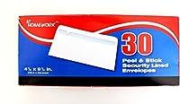 ホワイト封筒Peel /スティック30Countケースof 24