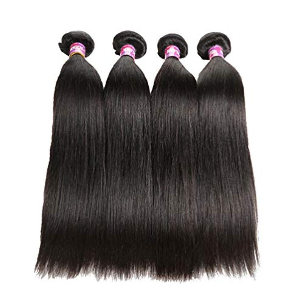 傾向があるパネル道路を作るプロセスブラジル人100%の人間の毛髪のまっすぐな実質のRemyの自然な毛は延長横糸の完全な頭部を織ります(3束)