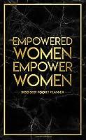 Empowered Women Empower Women 2020-2021 Pocket Planner: 2 Year (24 Months) Monthly Pocket Planner, Organizer, Calendar & Schedule Agenda With Phone Book, Notes & Password Log - Dark Blue Marble & Gold (Female Empowerment Gifts)