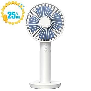 【2019年最新版】Eastshining 携帯扇風機 USB扇風機 風量5段階調節 ミラー台座付き 手持ち扇風機 卓上扇風機 ミニ扇風機