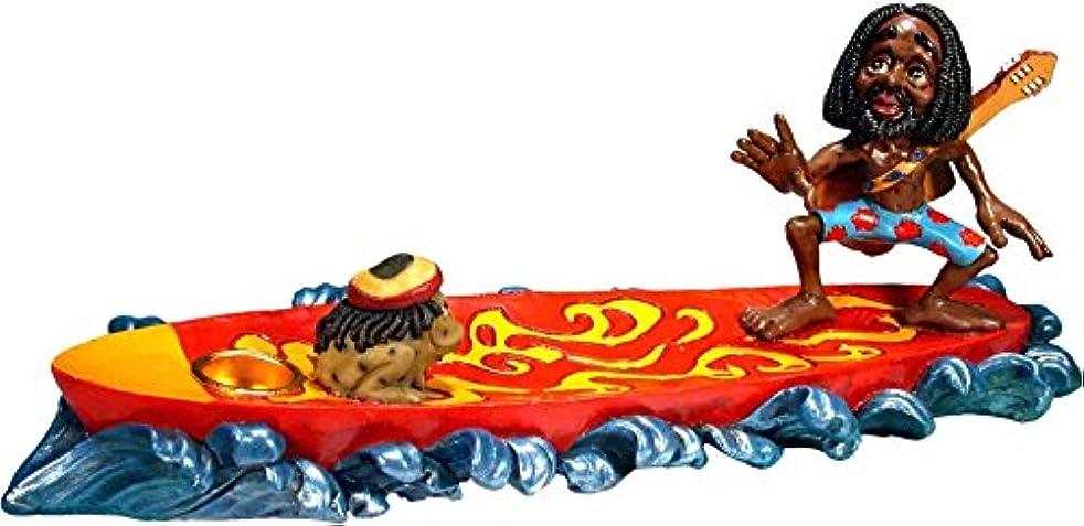 罪悪感桁避難サーフィンRasta dude-magic Rasta Frog – Stick And Cone Incense Ashcatcher Burner by Nose Dessertsブランド