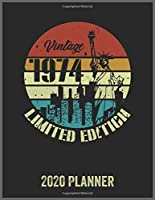 Vintage 1974 Limited Edition 2020 Planner: Daily Weekly Planner with Monthly quick-view/over view with 2020 Planner