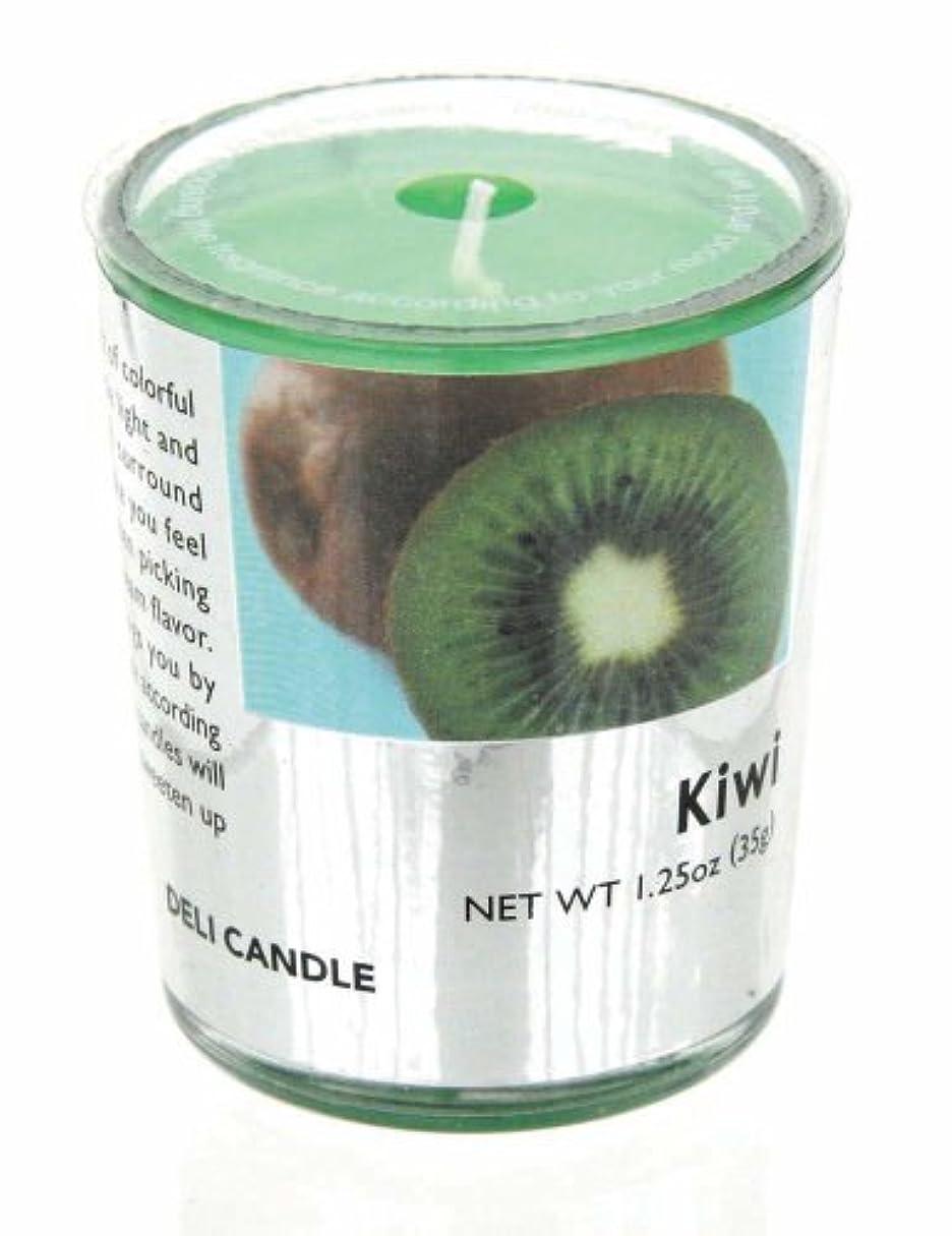乗って熟考する貸すデリキャンドル キウイ 35g(フルーツの香りのろうそく 燃焼時間約10時間)