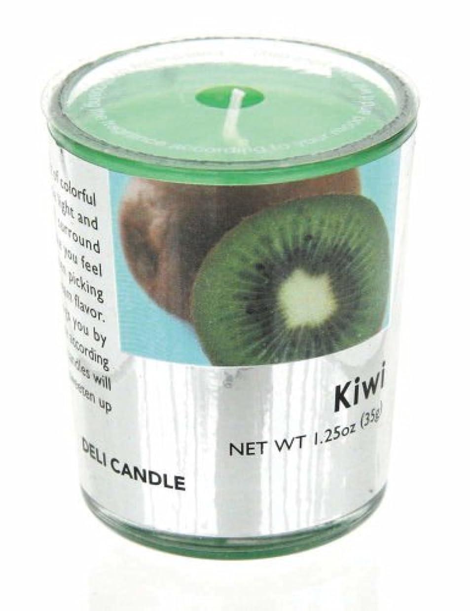 ほぼ性差別嫌がるデリキャンドル キウイ 35g(フルーツの香りのろうそく 燃焼時間約10時間)