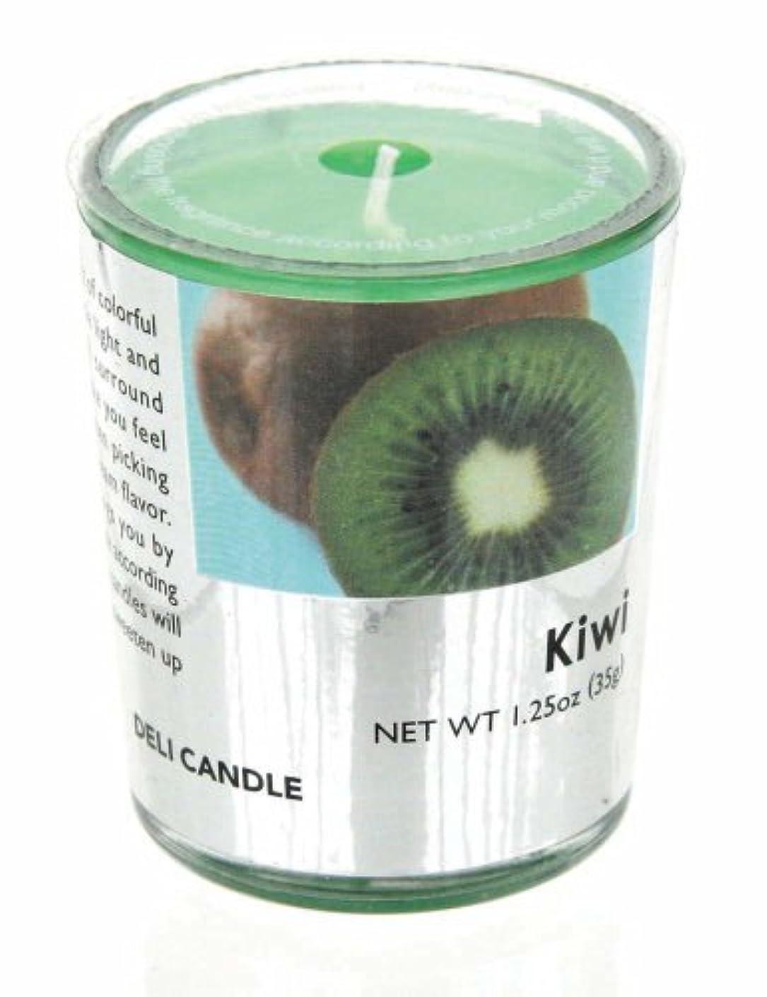 仕方コードレス選出するデリキャンドル キウイ 35g(フルーツの香りのろうそく 燃焼時間約10時間)