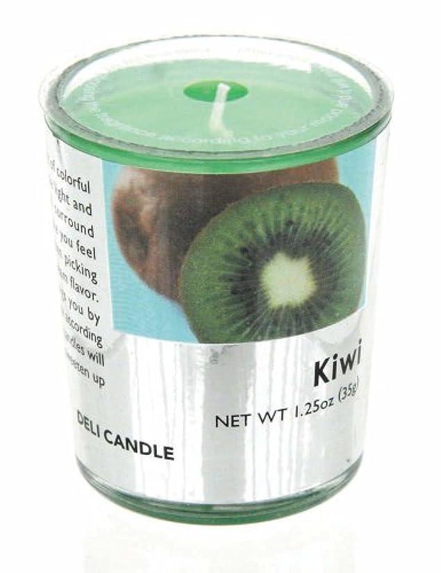 ハンバーガー考慮起こりやすいデリキャンドル キウイ 35g(フルーツの香りのろうそく 燃焼時間約10時間)