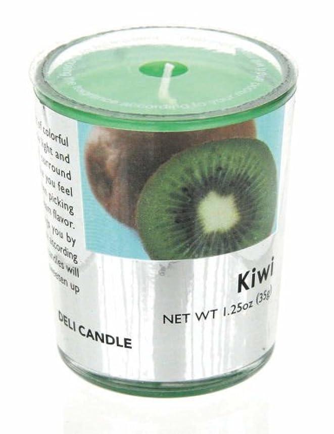 多様な帳面枯渇デリキャンドル キウイ 35g(フルーツの香りのろうそく 燃焼時間約10時間)