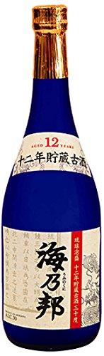 海乃邦 12年貯蔵古酒 泡盛 瓶 30度 720ml