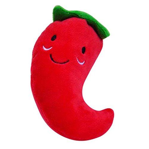 MyMei ペット噛むおもちゃ トウガラシ 唐辛子 赤い レッド 野菜 可愛い 歯磨き玩具 知育玩具...