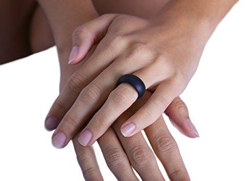 フレキシブル シリコン マリッジリング-アクティブでスポーティーなライフスタイルを送る男性に最適 結婚指輪に ブラック (インポート)