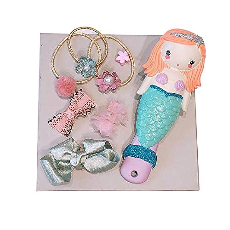 報奨金海岸あなたはボルト王女の髪のくし1パックヘアバンドヘアアクセサリー髪の人魚の女の子のギフトセットの子供の漫画かわいい春のアセンブリ