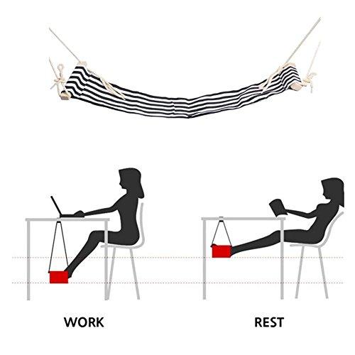 CHENGFA ハンモック式フットレスト フットレスト 足休め 足乗せ 足休息 足置き らくらく デスク 足 ハンモック オフィス 部屋