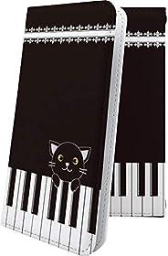 ケース arrows Be3 F-02L 互換 手帳型 キャラクター キャラ キャラケース ピアノ アローズ アロウズ ビー 女の子 女子 女性 レディース be 3 f02l arrowsBe ねこ 猫 猫柄 にゃー