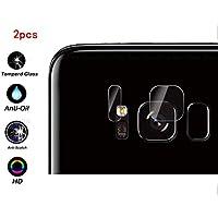 """Draxlgon 2セット カメラ保護ガラスフィルム フィルム レンズ保護 強化ガラス 高透過率 自動吸着 超耐久 指紋防止 飛散防止処理 Samsung Galaxy S8 /S8 Edge G950 G950F G950FD G950W G9500 G950A G950P G950T G950U G950V 5.8"""""""