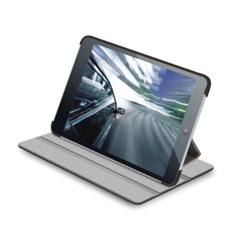 冷凍庫補正ファランクス【2012年モデル】エレコム iPad mini mini2 mini3 対応 ソフトレザーケース 4段階調整スタンド ブラック TB-A12SPLF2BK