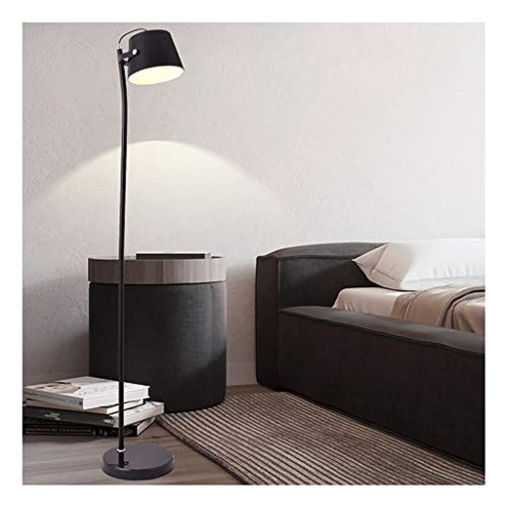 彼インフレーション膨張する*現代の ブラックフロアランプE27の電球ホームデコレーションリビングルームのベッドルームのソファ読書ランプ北欧ベッドサイドランプ 目の保護