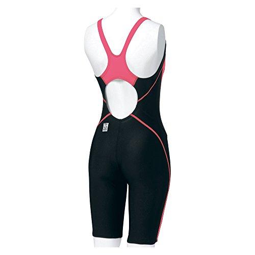 Speedo(スピード) レディース 競泳水着 フレックスシグマ セミオープンバックニースキン SD40H3SF ブラック×ブレイズピンク M