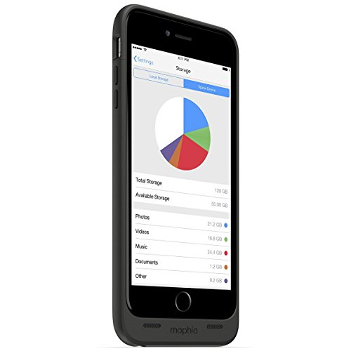 日本正規代理店品・保証付mophie space pack for iPhone 6 Plus 32GB (ストレージ内蔵バッテリーケース) ブラック MOP-PH-000103