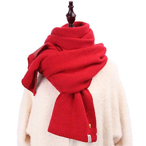 失速女士圍巾菠蘿與可愛的習慣編織發網頸部溫暖可逆樸素簡單高中生大型的粉紅色/黑色/藍色/黃色/紅色