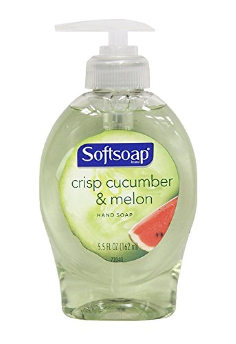 歯タンパク質モチーフSoftsoap Crisp Cucumber & Melon Hand Soap, 160ml