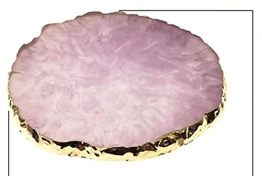 インク私達摂動Glitter Powderジェルネイル パープル ネイル ジェルネイル パレット プレート ディスプレイ 天然石風 展示用 アゲートプレート デコ アクセサリー ジェルネイル (パープル)