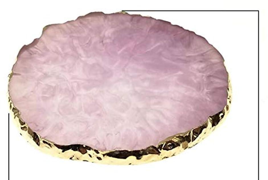 寄付宗教的な浴Glitter Powderジェルネイル パープル ネイル ジェルネイル パレット プレート ディスプレイ 天然石風 展示用 アゲートプレート デコ アクセサリー ジェルネイル (パープル)