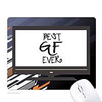これまでに最高のbfバレンタインデー愛 ノンスリップラバーマウスパッドはコンピュータゲームのオフィス