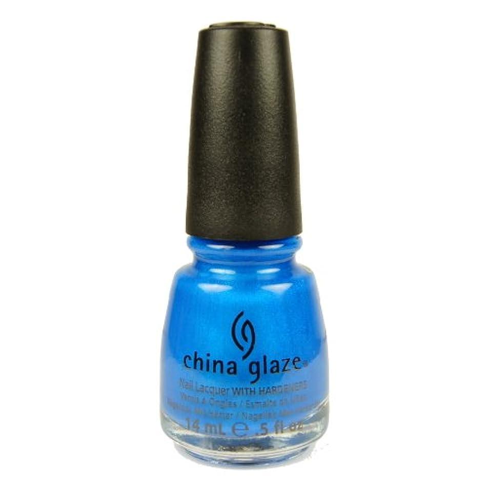 上昇遅れアブセイCHINA GLAZE Summer Neon Polish - Splish Splash (並行輸入品)