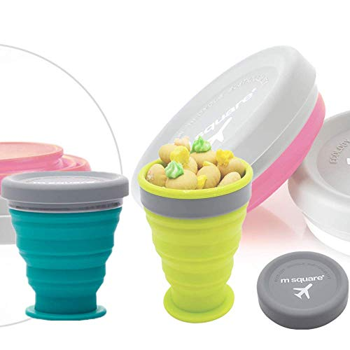 Litthing カップ 折りたたみ式 シリコン カップ 耐熱 子供用 コップ 軽量 便利 旅行 ポータブル 2点セット (#2)
