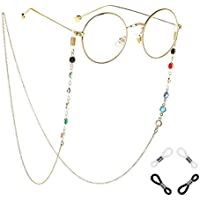Xiang Ru Colorful Rhinestone Beaded Eyeglass Chain Anti Slip Rubber Ends Reading Glasses Eyewear Holder
