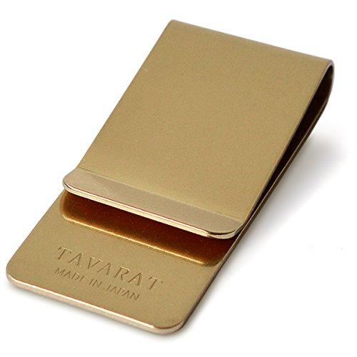[タバラット] 日本製 マネークリップ 真鍮製 サテーナ加工/バレル研磨 (ブラス) Tps-006-bs
